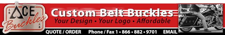 We custom make motorcycle belt buckles based on your unique design, logo, concept, colors & branding.