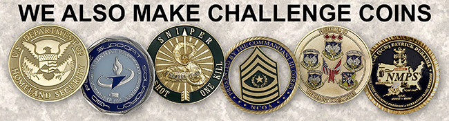 We also make challenge coins
