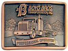 Example of trucking company customized belt buckle - reward your safe drivers