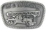 Picture of personalized pewter belt buckle