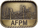 Industrial theme belt buckle with rope border