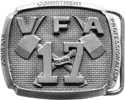 VFA belt buckle with crossed axes