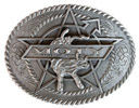 Man of the year belt buckle with rope border