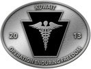 Medical symbol caduceus on this military color accent oval belt buckle
