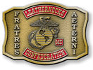 Leatherneck marine motorcycle color accent belt buckle