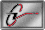 Color accent stylized letter belt buckle