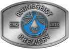 Brewery rectangular belt buckle with center color accent