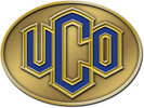 Oval univiersity belt buckle with color fill letters
