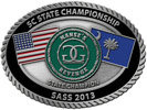 state championship belt buckle