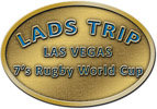 oal rugby cup belt buckle with color accent