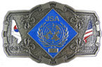 Veteran belt buckle