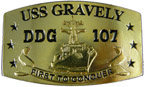 Naval Arleigh Burke-class guided missile destroyer belt buckle