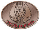 Brotherhood color fill oval belt buckle