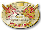 Ultra marathon running belt buckle with color fill