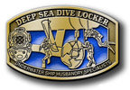 Deep sea diving specialist belt buckle