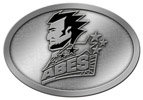 Abe Lincoln belt buckle with color accent