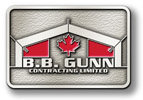 Canadian corporate contractor belt buckle with color fill maple leaf