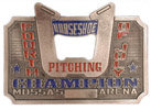 Horseshoe Champion belt buckle with bottle opener