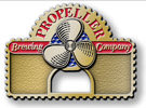 Brewery belt buckle with color accent and propeller and bottle opener