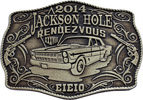 Classic car belt buckle