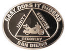 Addiction and Recovery Motorcycle Club belt buckle