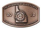 Cowboy action shooting championship belt buckle