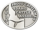 Cattlemen state association oval belt buckle