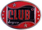 Red Color fill Club belt buckle with stars on either side of design