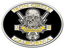 motorcycle club belt buckle with motorbike engine and skull