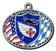 Air ambulance color fill American flag background on this belt buckle