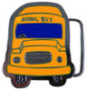 Colorful School Bus Belt buckle