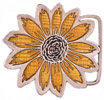 Yellow flower with multi petals belt buckle