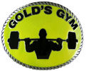 Weightlifter belt buckle with yellow color fill