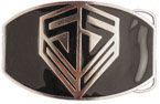 Unique black color fill belt buckle