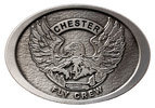 Helitack Fly crew belt buckle with eagle wing span centered on design