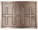 Rectangular belt buckle with stippled background