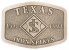 Texas belt buckle with stippled antique belt buckle