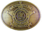 Conservation Police Officer belt buckle