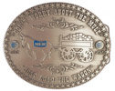 Corporate belt buckle with mule and wagon
