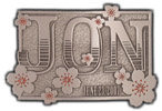 Artistic personal belt buckle with flowers and date