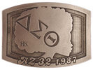 Commemorative rectangular belt buckle