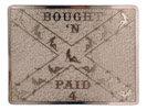 Rebel belt buckle with antique stippled background