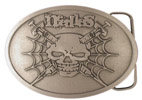 Skull and Needles belt buckle