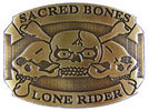 Skull and Bones Motorcycle Club belt buckle