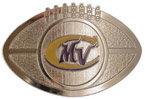Football shape belt buckle