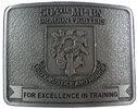 Army Vietnam Veteran belt buckle with stippled antique belt buckle