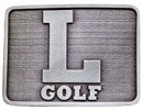 Rectanglular golf belt buckle