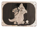 Kangaroo Carrying Golf Clubs belt buckle
