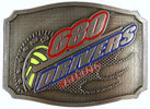 Water Polo belt buckle with color accents
