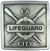Lifebuoy and oars pictured on this unique belt buckle